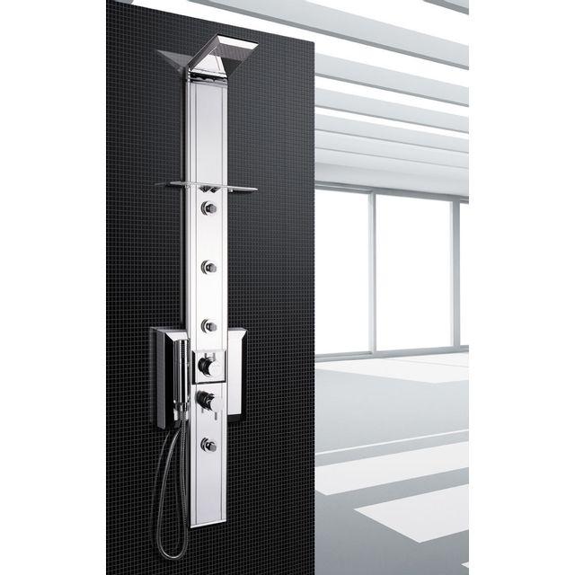 Drop colonne de douche mitigeur prisma140cr chrome pas - Vente colonne de douche ...