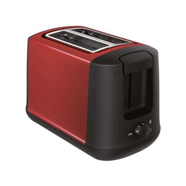 moulinex toaster subito select lt340d11 rouge inox pas cher achat vente grille pain. Black Bedroom Furniture Sets. Home Design Ideas
