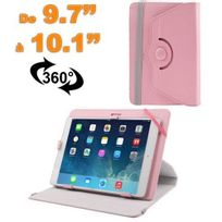 Yonis - Housse universelle tablette 9.7 - 10.1 pouces support 360° Rose clair