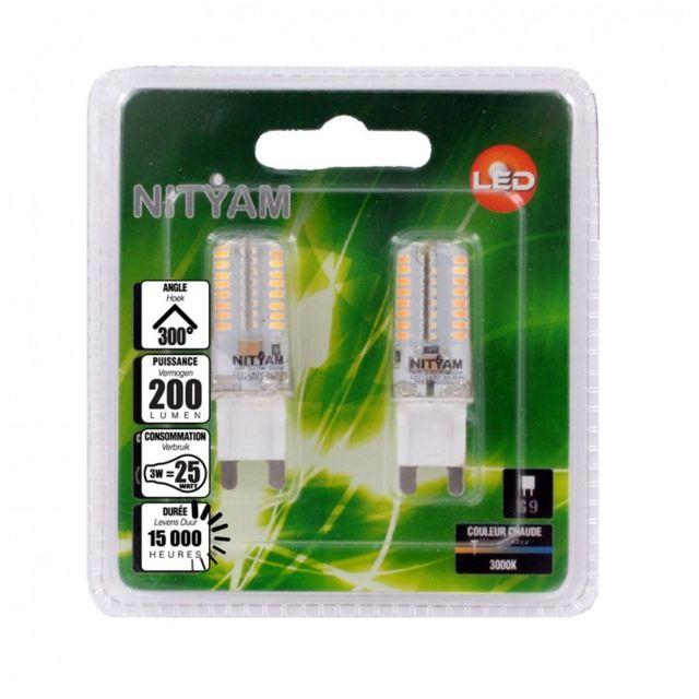 nityam lot de 2 capsules 3w culot g9 pas cher achat vente ampoules led rueducommerce. Black Bedroom Furniture Sets. Home Design Ideas