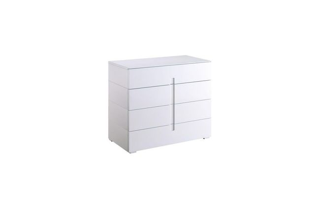 Miliboo Commode design laquée blanc 4 tiroirs Ted