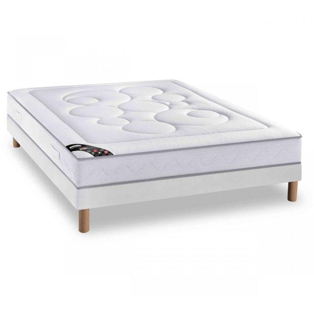 sommier tapissier 140x190 cm dunlopillo play vendu par conforama 10750. Black Bedroom Furniture Sets. Home Design Ideas