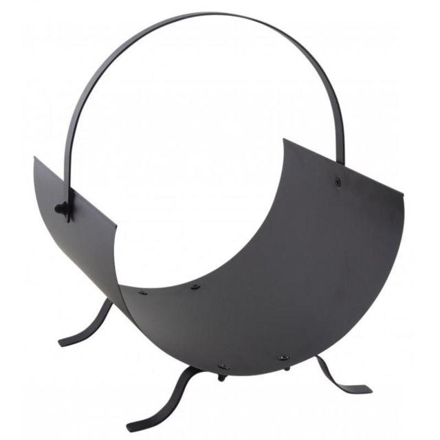 AUBRY GASPARD Porte-bûches design en métal noir