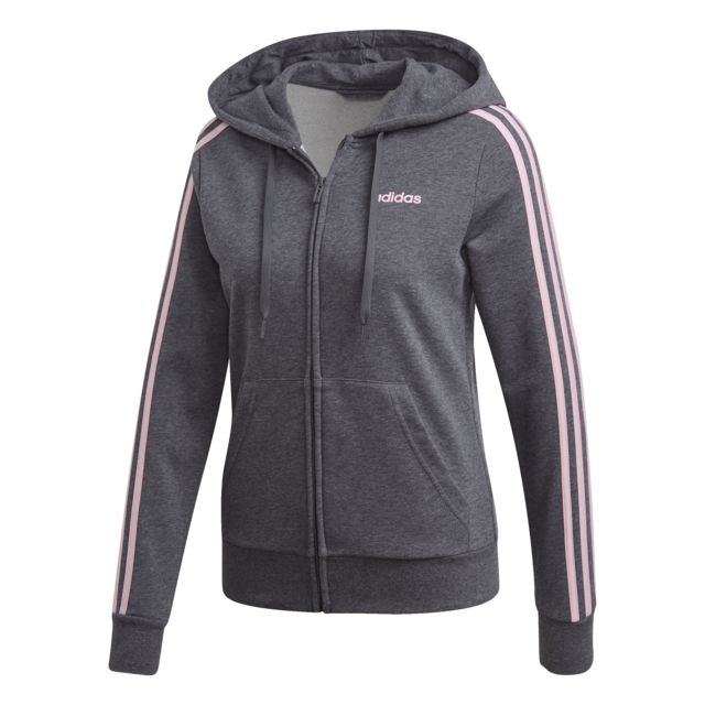 Adidas Veste à capuche femme Essentials 3 Stripes pas