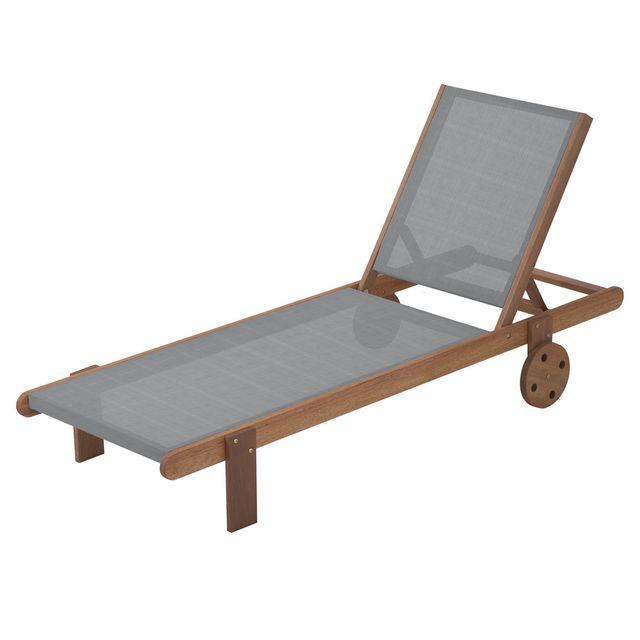 HABITAT ET JARDIN - Bain de Soleil en bois exotique Saïgon - Maple - Gris 1b5a05c283af