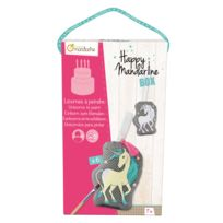 Avenue Mandarine - Coffret créatif Happy Mandarine Box : Licornes à peindre