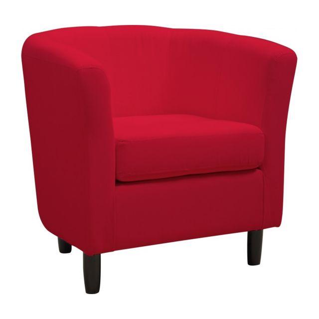 Rocambolesk Fauteuil cabriolet coton rouge
