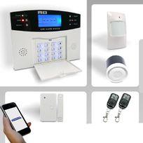 EMATRONIC - Alarme maison sans-fil/ filaire GSM -AL01 + Echelle télescopique LBH-ZT-A13