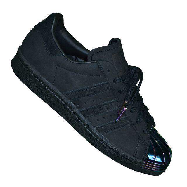 Adidas originals - En Solde Baskets - Superstar Foundation 80 S Metal Toe  S76710 - Noir Noir - pas cher Achat   Vente Baskets femme - RueDuCommerce 0a1c748fbae