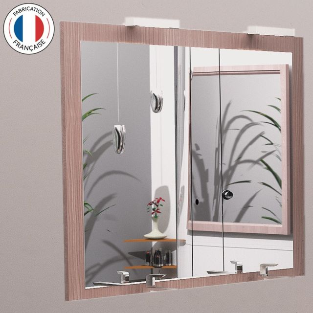 Creazur Miroir avec applique Led Miralt - 140 cm - vienna