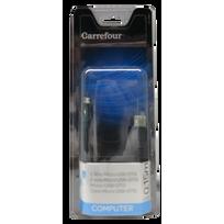 CARREFOUR - Câble USB - PS-COM28 - Noir