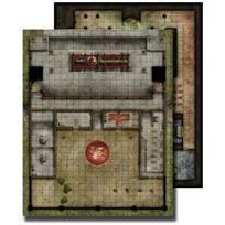 Paizo - Jeux de figurines - Pzo30041 Gamemastery Flip Mat: Monastery