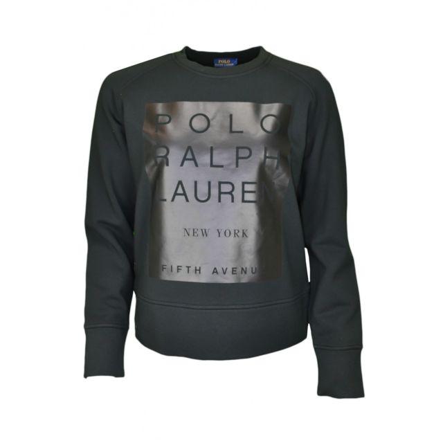 5171488f77102 Ralph Lauren - Sweat noir pour femme - pas cher Achat   Vente Sweat femme -  RueDuCommerce