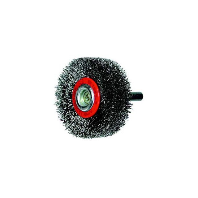 Topcar - Brosse circulaire, fil acier ondulé avec tige de 6 mm 70x12x6 mm Osborn 0002506161