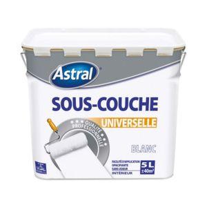 Astral   Peinture Sous Couche Universelle Intérieur   Blanc   5 L