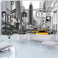 Bimago - A1-F4TNT0409-P - Papier peint - Bd - taxis jaunes à New York 450x270
