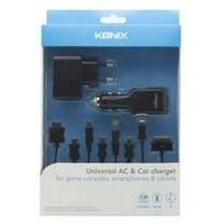 Konix - Chargeur Secteur + Allume Cigare 2DS-3DS-New3DS
