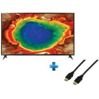 TV LED 55'' 139cm - 55UJ630V + Cordon HDMI 1.4 - 1.5 mètres