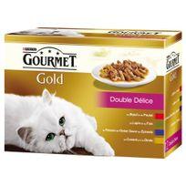 Gourmet - Boîte Gold Double Délice pour Chat - 12x85g