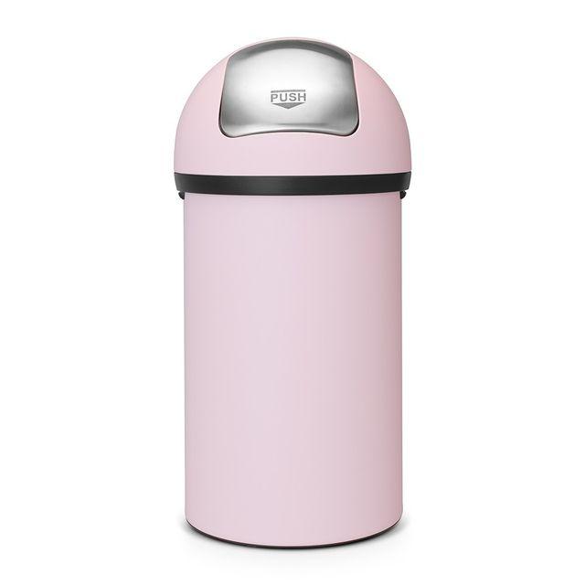 BRABANTIA   Poubelle Push Bin 60L Rose   Pas Cher Achat / Vente Poubelle De  Cuisine   RueDuCommerce
