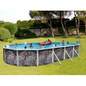 Toi vigipiscine kit piscine hors sol acier piedra gris for Piscine hors sol hauteur 1 50