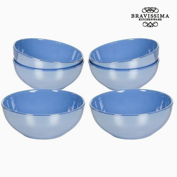 No Name Ensemble de bols Vaisselle Bleu 6 pcs Collection Kitchen's Deco by Bravissima Kitchen