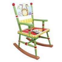 FANTASY FIELDS - Chaise à bascule siège fauteuil bois décor chambre enfant bébé mixte W-8266A