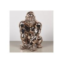CHLOE DESIGN - Sculpture décorative design HARAMBE - Cuivre