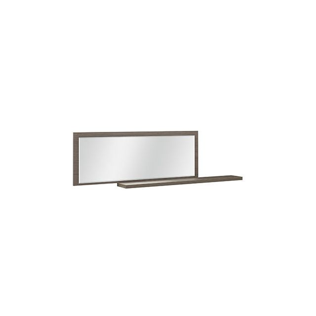 Miroir + 1 tablette décor chêne - Anabelle