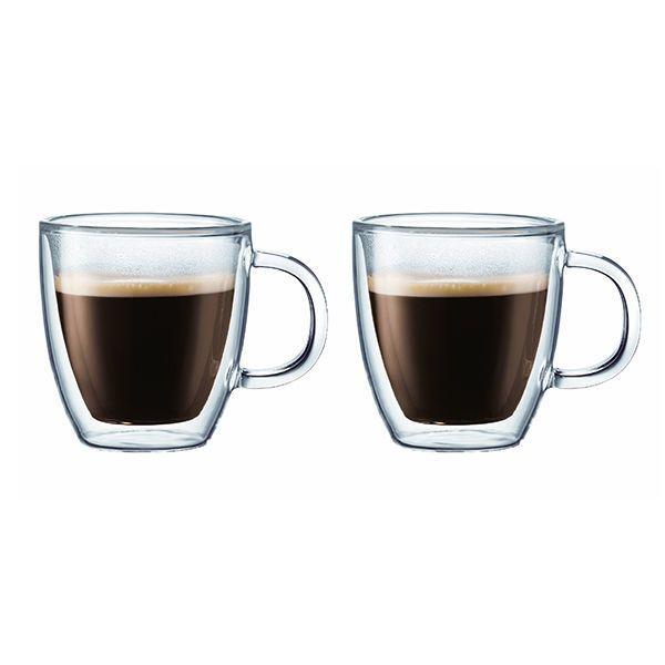 BODUM - set de 2 tasses à espresso double paroi 15cl - 10602-10