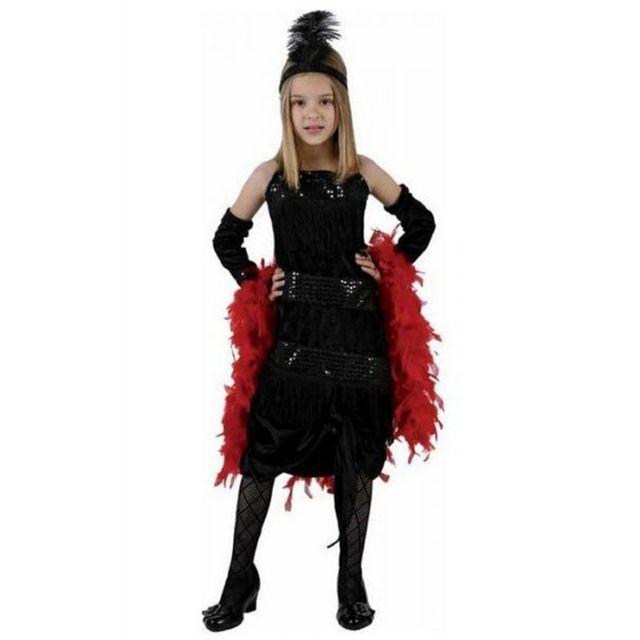 4be9682b8550a Déguisement robe charleston noire enfant 3 à 4 ans