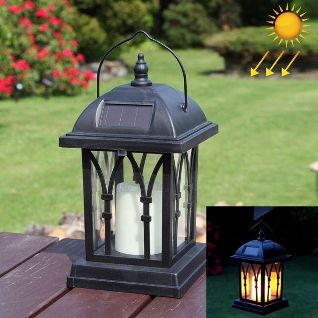 Led Avec panneau solaire noir Puissance Bougie Jardin Lumière Lampe à Gazon  avec 0.2W Silicium Amorphe