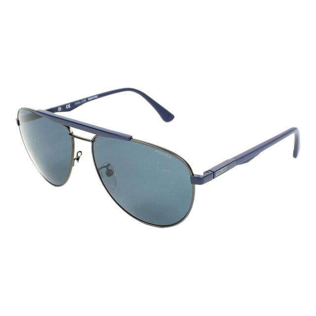 755f5c0c7f Police - Lunettes de soleil Brooklyn 3 Spl-364 Snfp Homme Bleu - pas ...