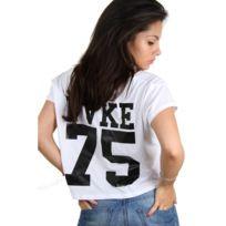 Fake - paris - Croptop t-shirt Etoile 75