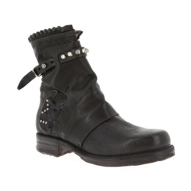 Airstep - Air Step As98 520274 Noir - pas cher Achat   Vente Boots ... 66df7ec3ef8d