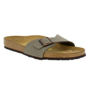 birkenstock madrid birko flor homme 44 stone gris pas cher achat vente sandales et tongs. Black Bedroom Furniture Sets. Home Design Ideas