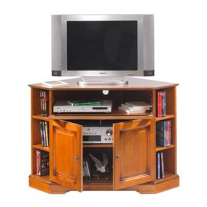 meuble tv d 39 angle louis philippe merisier pas cher achat vente meuble tv rueducommerce. Black Bedroom Furniture Sets. Home Design Ideas