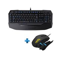 ROCCAT - Pack Gaming , Clavier Ryos MK Pro Brown + Souris Kiro