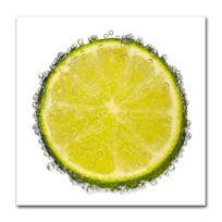Boniday - Tableau citron vert et bulles 30 x 30 cm