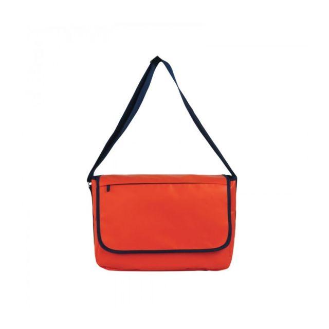SKIMP Sacoche besace pour pc portable le messager orange