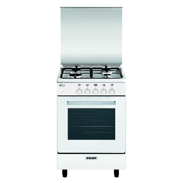 GLEM - cuisinière gaz 60l 4 feux blanc - ga550gwh
