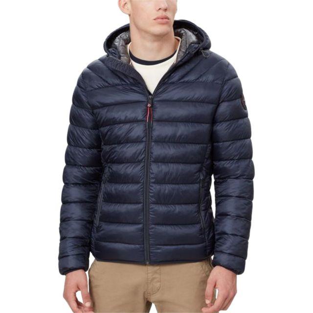 Napapijri - Doudoune Aerons Hood Bleu marine - pas cher Achat   Vente  Doudoune homme - RueDuCommerce dd7ec2b8502