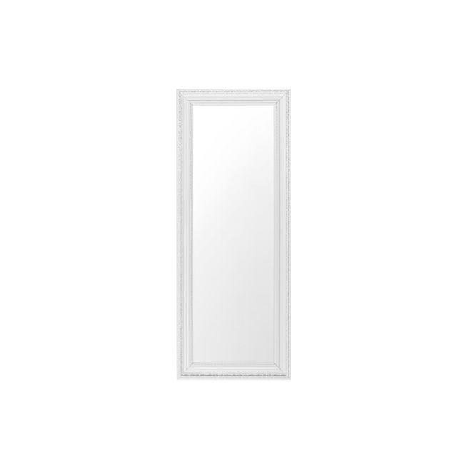BELIANI Miroir argenté 50 x 130 cm VERTOU - blanc