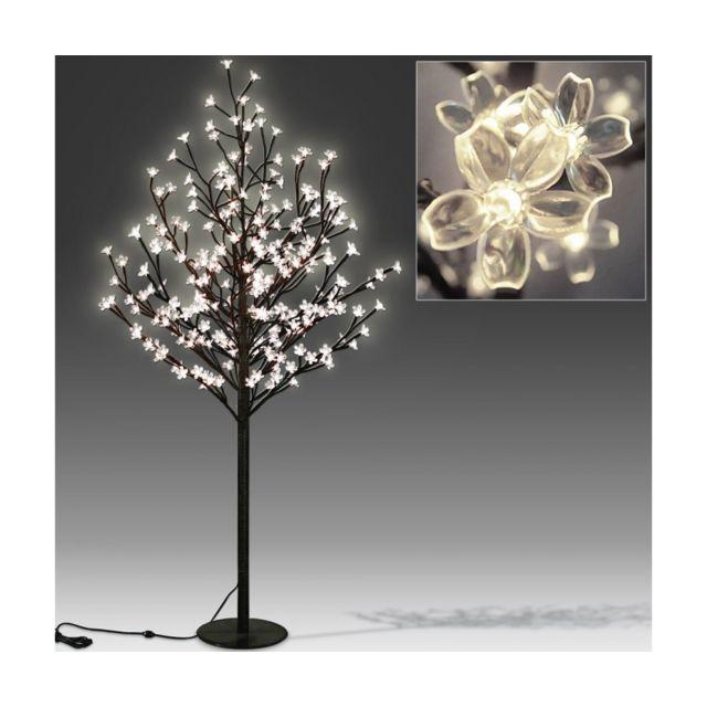 Superbe Cerisier Arbre Cerise Fleurs Led Lumineux Lampe 220cm Neuf