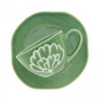 Maison A Vivre - Lot de 6 paire tasses à café artichaut