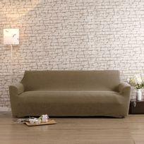 Comptoir Des Toiles - Housse de canapé 3 places bi-extensible Lisa - Beige