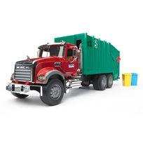 Bruder - Camion poubelle Mack et 2 poubelles