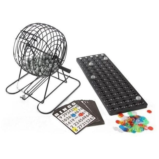 Otto Jeu de loto - Sphère métal bingo 75 boules