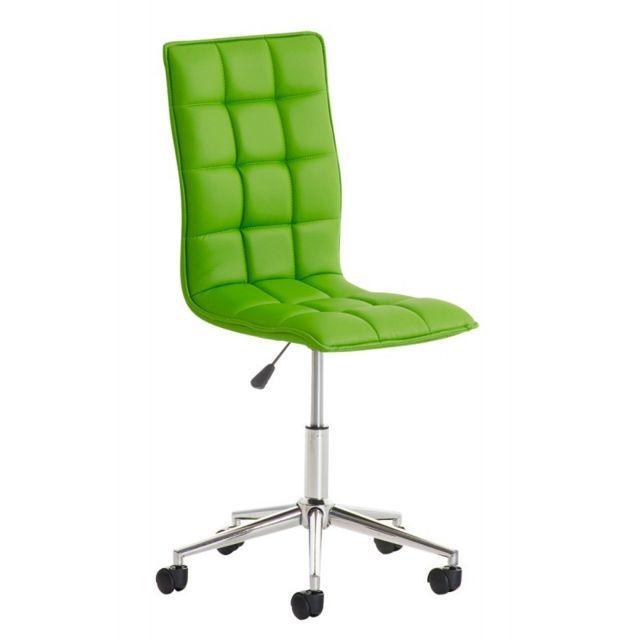 Decoshop26 Fauteuil chaise de bureau tabouret à roulette