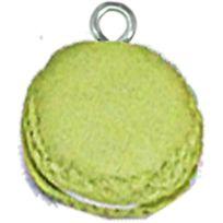 Megacrea - Macaron pâte polymère Ø 15 mm Pistache